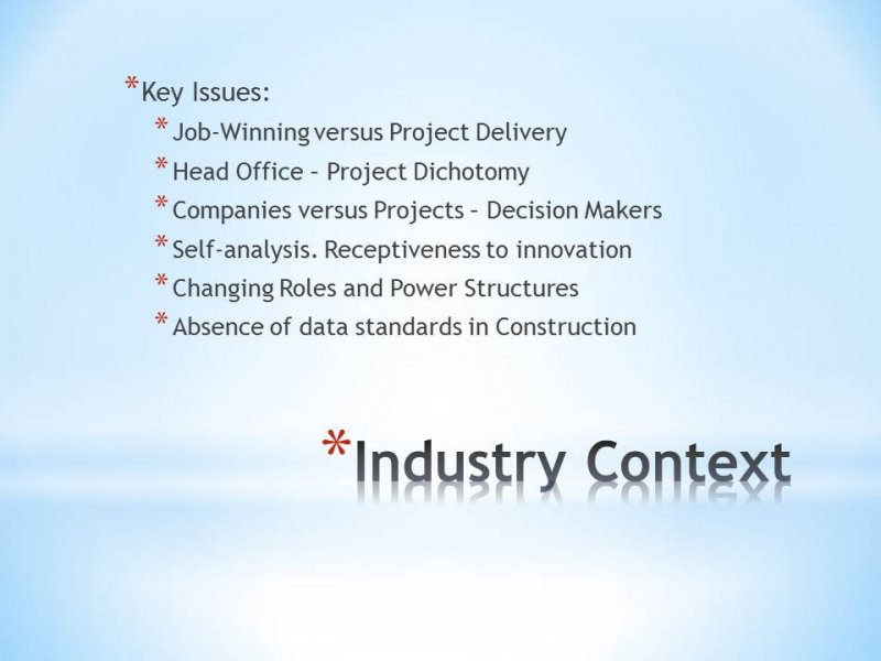 10.06 Aspects of the Industry Context