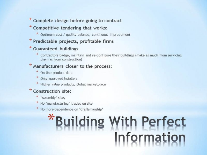 10.05 Building With Perfect Information