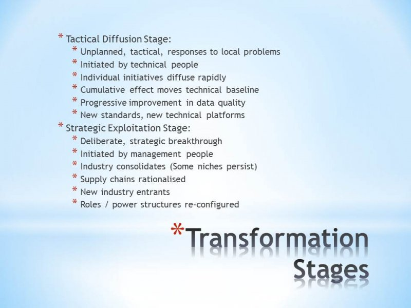 9.16 Stages of Industry Transformation